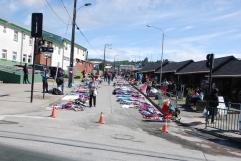 Saturday morning street market in Quellon