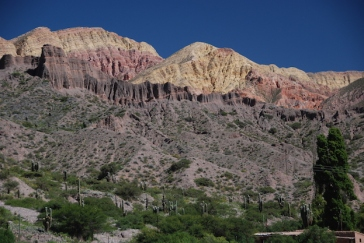 Big, coulourful mountains - a feature of the area