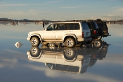 Even the vehicles get into the reflection act
