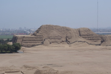 Huaca del Sol is enormous. An estimated 140 million mud bricks were used in construction