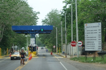 Another Toll! Stop, pay, go on. The roads where there are tolls are generally very good.