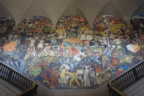 Diego Rivera's murals in the Palacio Nacional
