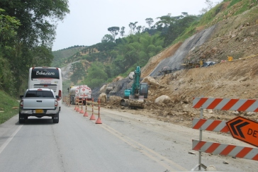 Rock slides are common place and often create enormous problems - and long waits!