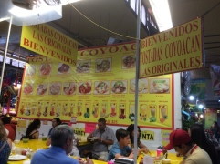 lunch at Coyoacan markets.