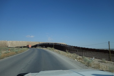 Theborder fence from the Mexican side.