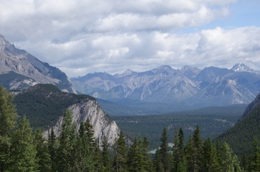 If you were staying at the banff Springs Hotel, your view might look like this.