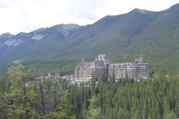 Perhaps we should have booked a room at the beautiful Banff Springs Hotel.