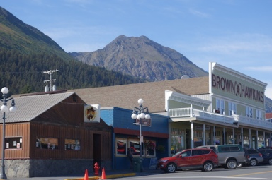 Main street of Seward.