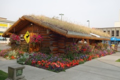 A sod house, now the very welcomingAnchorage Visitor Centre.