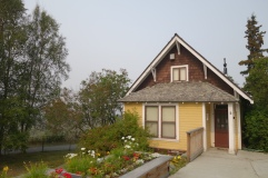 The first home built in Anchorage.