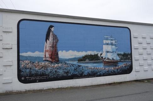 Beautiful murals in the town of Chemainus