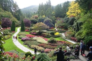 Butchart Gardens -beautiful, even in the rain.