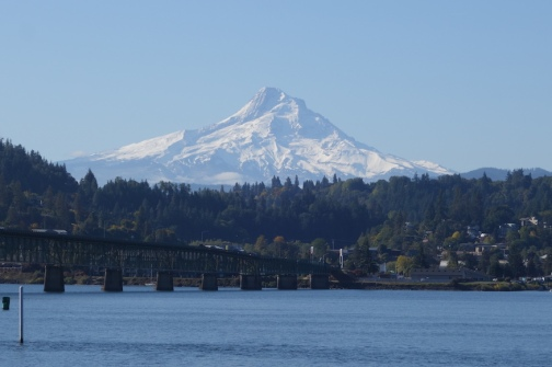 Mt Hood in the distance.